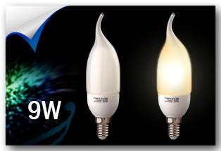 لامپ 9 وات اشکی